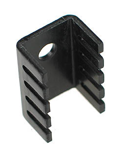 TO220S - Small Black Finish Standard TO-220 Heatsink