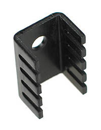 TO220S - TO-220 Heatsink with Fins - Aluminium