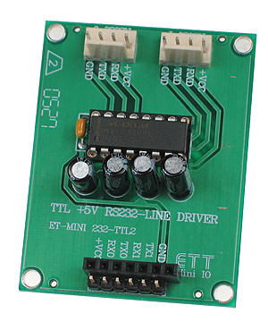 The RS232 Converter Mini Board is a quick and easy solution for adding