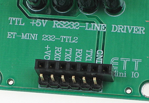 Click for Larger Image - RS232 to TTL-5V Converter Mini Board