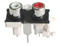 Vertical PCB Mount RCA Sockets