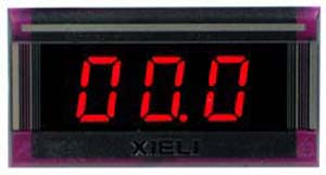 XL3-100V-2WIRE - Digital Red 0-100VDC LED Voltmeter