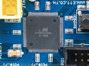 Click for Larger Image - XMEGA128 Microcontroller