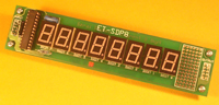 SDP8 - 8 Seven Segment Display Board